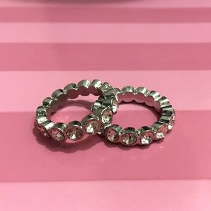 2 Fashion Stackable Rings, Size 8